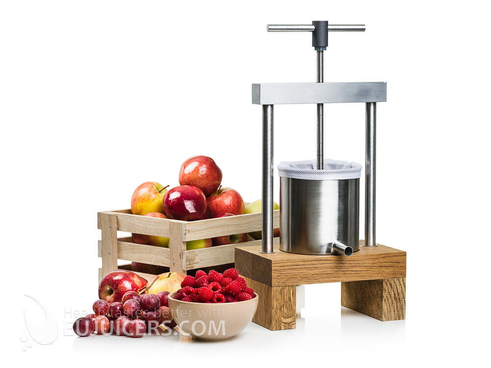 fruit press mini eujuicers com. Black Bedroom Furniture Sets. Home Design Ideas