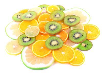Grapfruit, kiwi, orange