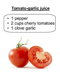 tomato garlic juice