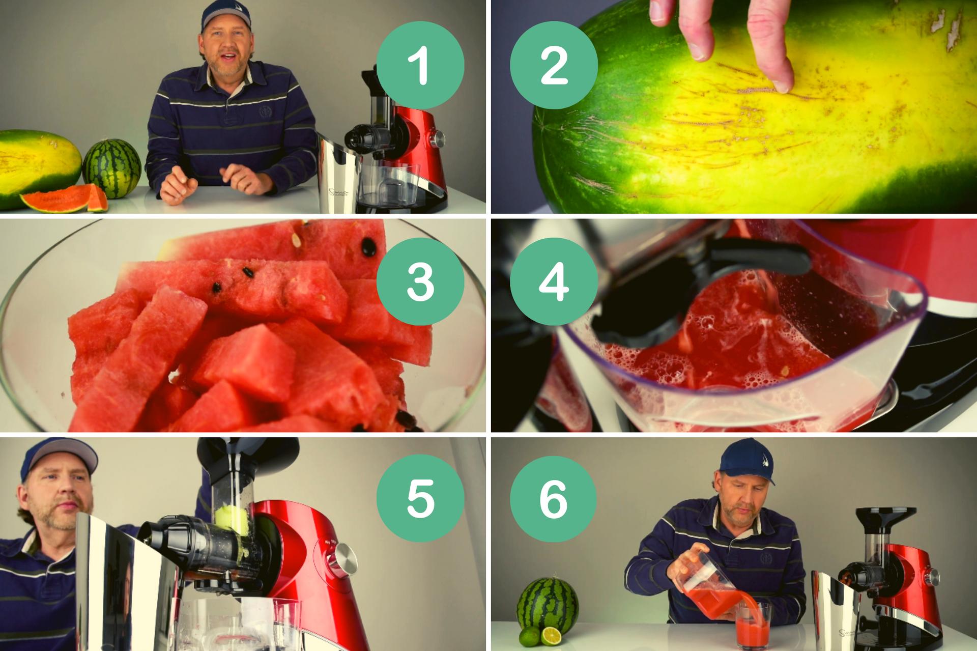 Jak vybrat nejsladší meloun pro odšťavňování